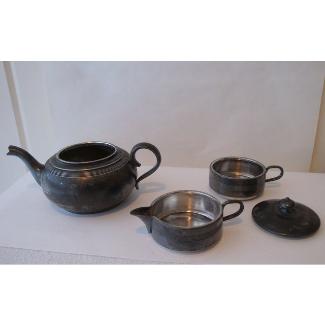 Antique Stacking Tea Pot, Creamer and Cup Set - Image 4 of 5