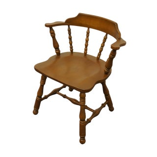Kling Colonial Solid Hard Rock Maple Dining / Pub Arm Chair 18-0974 For Sale