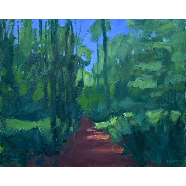 "Stephen Remick ""A Walk in the Woods"" Contemporary Painting For Sale - Image 9 of 12"