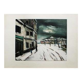 1930s Maurice Vlaminck, Winter Landscape Original Period Swiss Lithograph For Sale