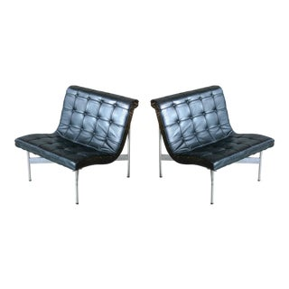 Pair of Original 1950s New York Lounge Chairs by Katavolos, Littell and Kelley For Sale