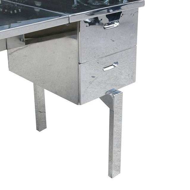 Silver Polished Aluminium WWII Campaign Desk For Sale - Image 8 of 10