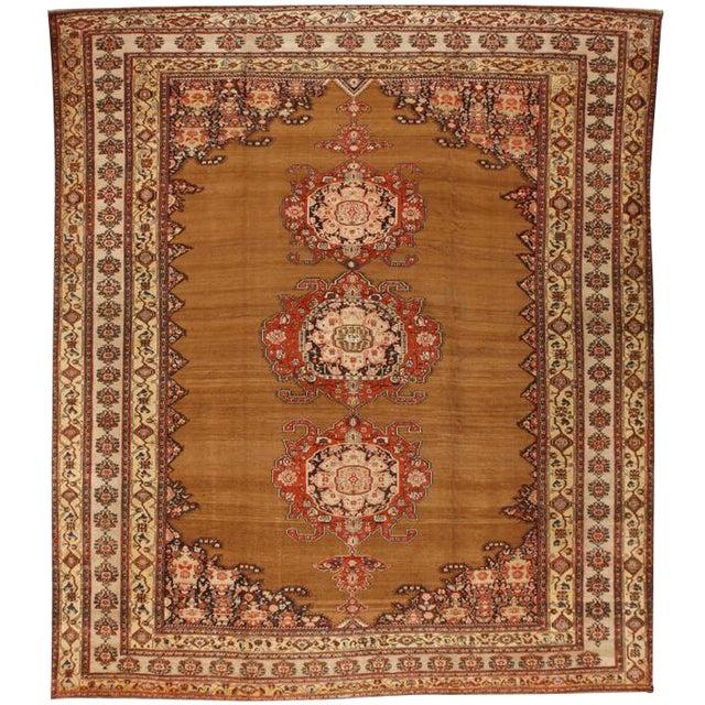 Antique 19th Century Persian Zili Sultan Carpet For Sale