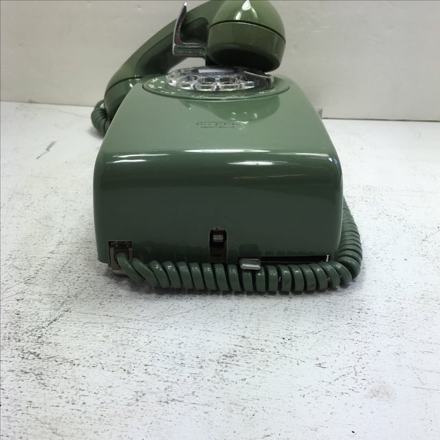 Moss Green Western Electric Rotary Dial Wall Phone - Image 5 of 11