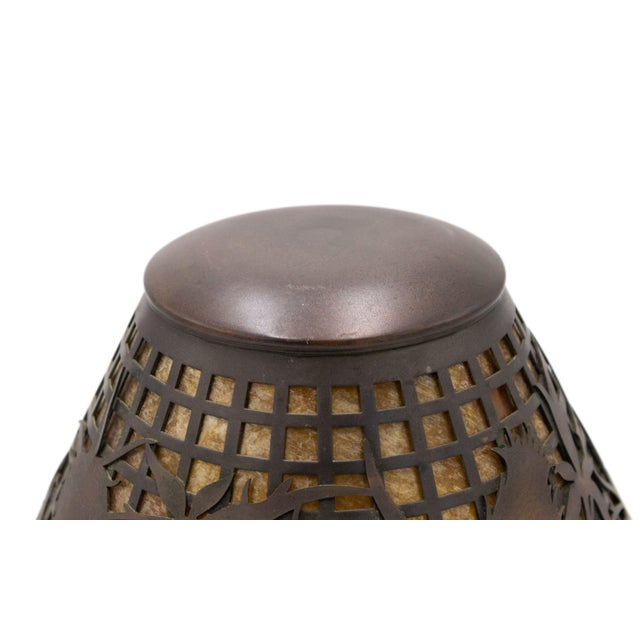 Early 20th Century American Mission Heintz Art Metal Table Lamp For Sale - Image 5 of 7