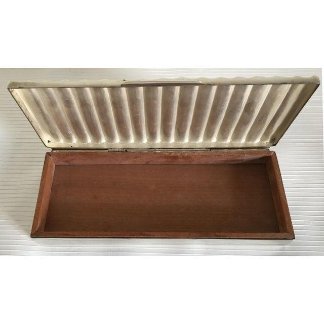 Ralph Lauren Ralph Lauren Silver Ridged Humidor Box For Sale - Image 4 of 10