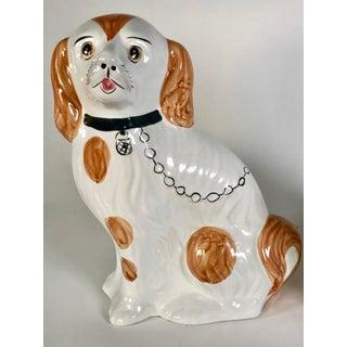 Staffordshire Spaniel Mantel Dog Figurines - a Pair Preview