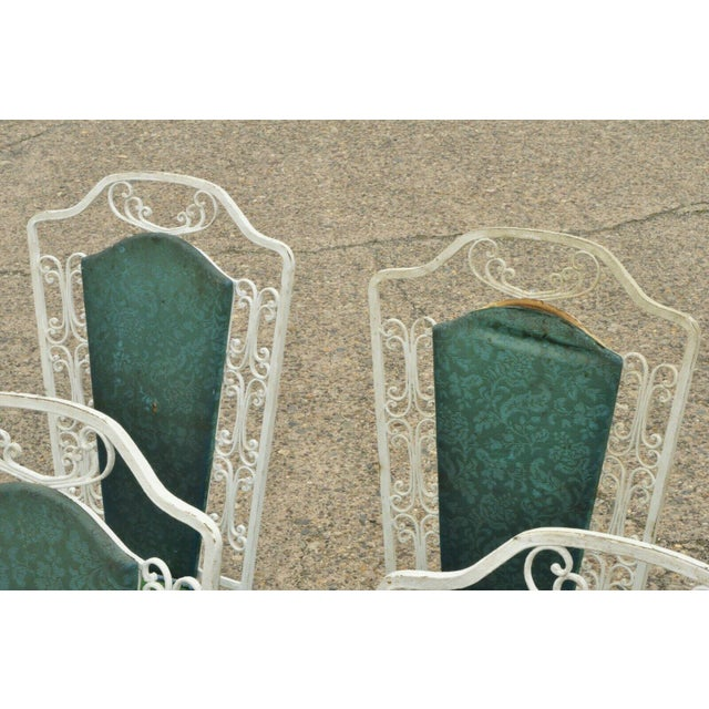 Metal Vintage Antarenni Woodard Andalusian Style Wrought Iron Patio Dining Chairs - Set of 6 For Sale - Image 7 of 13