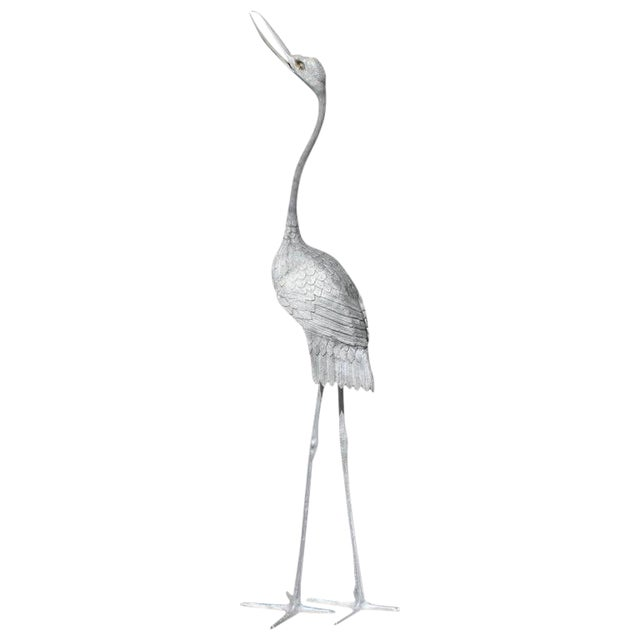 Monumental Vintage Art Deco Flamingo Sculpture 1950s - Image 1 of 10