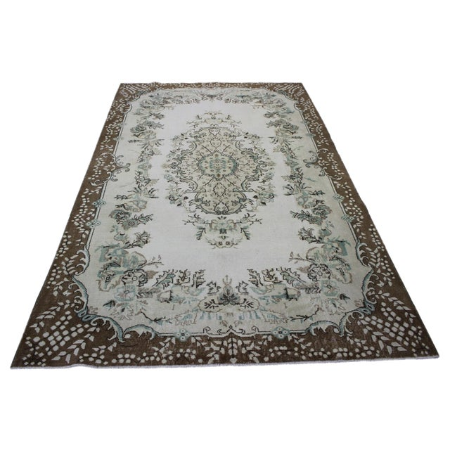 Hand Woven Overdyed Vintage Rug - 6′8″ × 10′4″ - Image 1 of 6