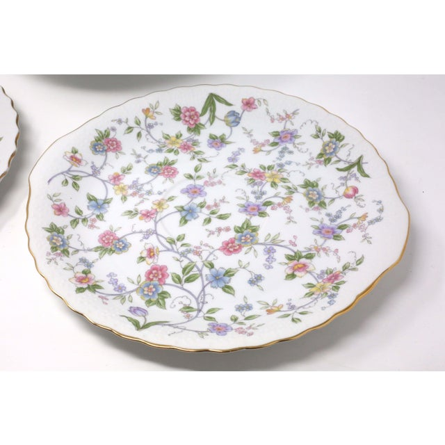 """1990s Vintage """"Corona"""" Floral Chintz Serving Pieces by Sadek - Set of 3 For Sale - Image 5 of 11"""