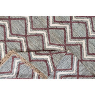 21st Century Modern Striped Flatweave Rug Preview