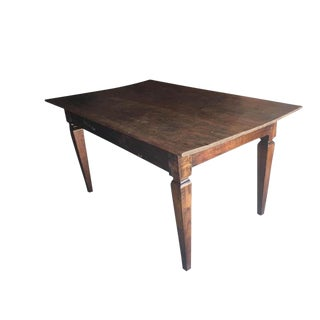 Rustic Reclaimed Teak Wood Dining Table For Sale