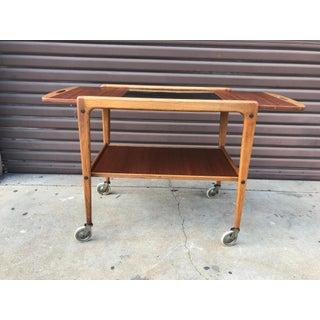 1950's Vintage Yngve Ekstrom Teak Bar Cart Preview