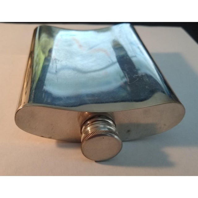 Vintage English Pewter Flask For Sale - Image 4 of 6