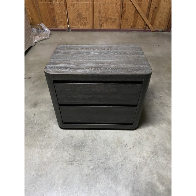 Beautiful Restoration Hardware Martens closed nightstand. A great addition to any bedroom!