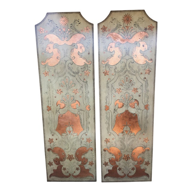 Modern Century Furniture Panels- A Pair For Sale