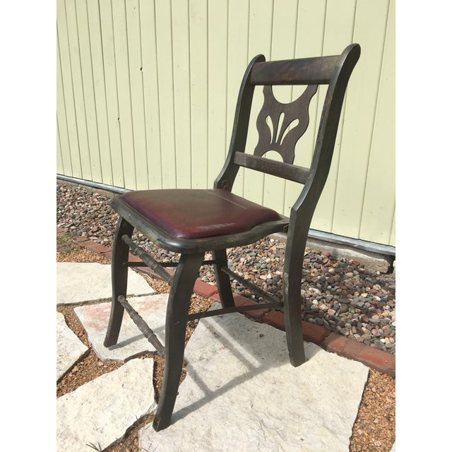 Antique Vintage Folding Theater Chair - Image 2 of 7