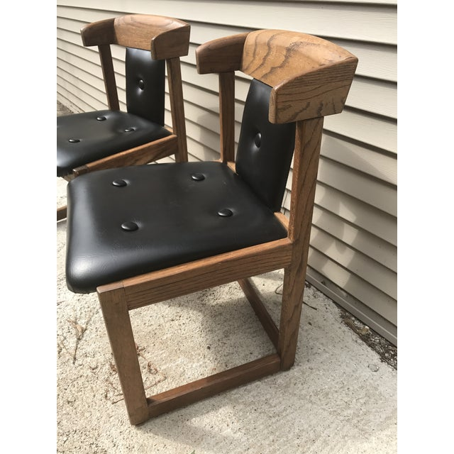 Howard Furniture Black Dining Chairs - A Pair - Image 3 of 4