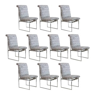 Milo Baughman Mid-Century Modern Dining Chairs - Set of 10 For Sale