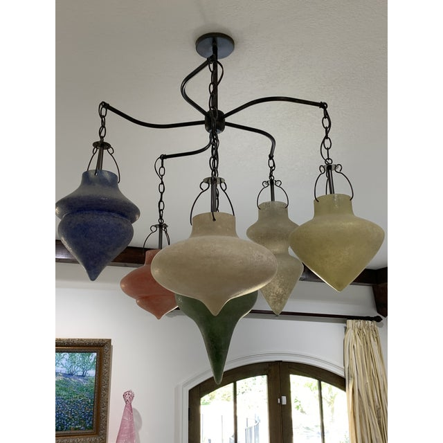 Pair of Murano Glass Chandelier CX Designs Scavo Collection For Sale - Image 9 of 9