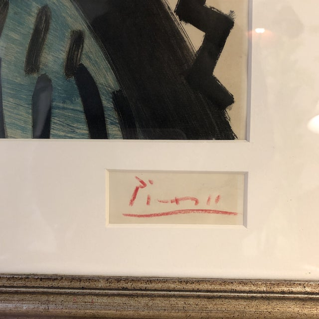 Abstract Signed Pablo Picasso Lithograph For Sale - Image 3 of 7