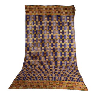 20th Century African Hand Woven Multi-Colored Fabric