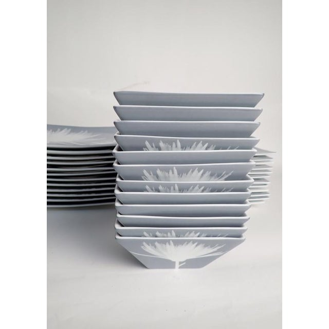 CB2 Modern Dinnerware Featuring Mums - 40 Piece Set For Sale In New York - Image 6 of 11