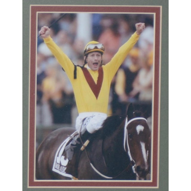 English Traditional Calvin Borel Three Time Kentucky Derby Winner Signed Racing Memorabilia For Sale - Image 3 of 8