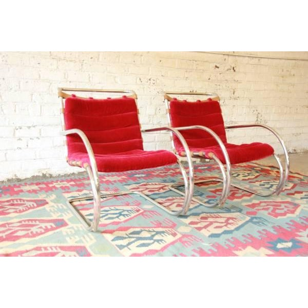 Mies Van der Rohe MR-20 Lounge Chairs - A Pair - Image 6 of 9
