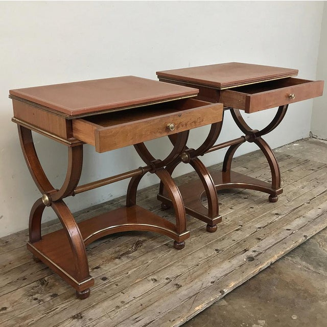 Mid 20th Century Pair Mid-Century French Charles X Side Tables For Sale - Image 5 of 13