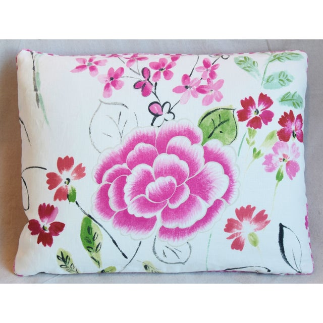 """Adirondack French Manuel Canovas Floral Linen Feather/Down Pillows 23"""" X 17"""" - Pair For Sale - Image 3 of 13"""