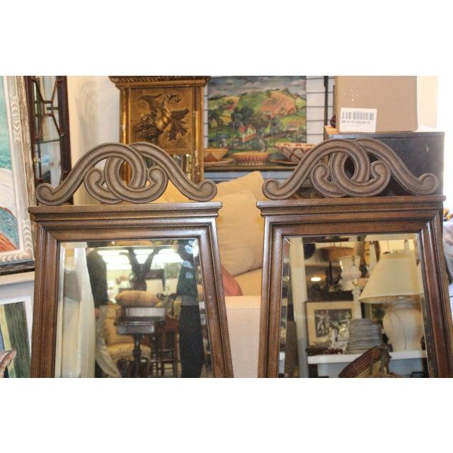 Art Nouveau Art Nouveau Style Wall Mirrors - a Pair For Sale - Image 3 of 6