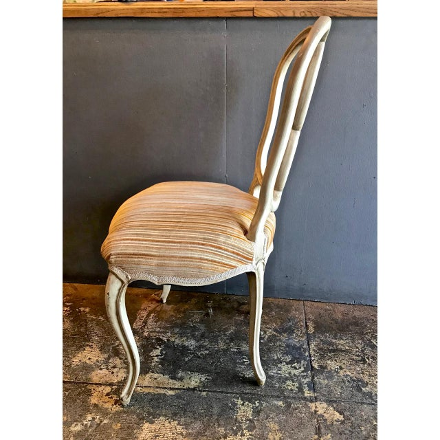 Beech Set of 8 Italian-Ventian Style Ribbon Back Dining Chairs For Sale - Image 7 of 12