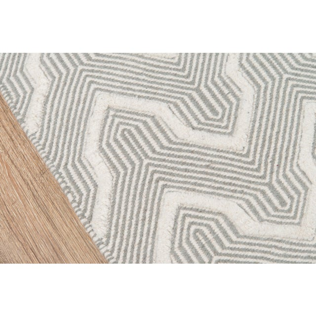 Contemporary Erin Gates by Momeni Langdon Prince Grey Hand Woven Wool Area Rug - 7′6″ × 9′6″ For Sale - Image 3 of 7