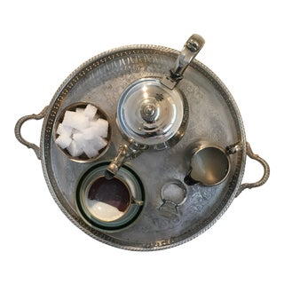 Entitled XI Wall Sculpture Featuring Silver Tray, Silver Teapot, Diamond Ring For Sale