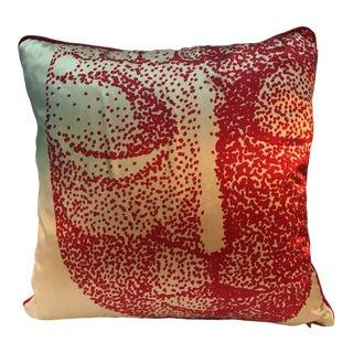 """Modern Aria Curameng for Bliss Silk """"Buddha Cat"""" Pillow For Sale"""