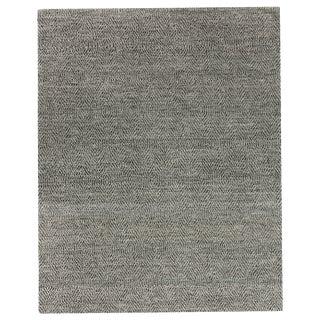 Sanz Flatweave Wool Black Rug - 10'x14' For Sale