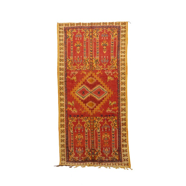 """Taznakht Moroccan Rug, 5'3"""" X 10'5"""" Feet For Sale - Image 6 of 6"""
