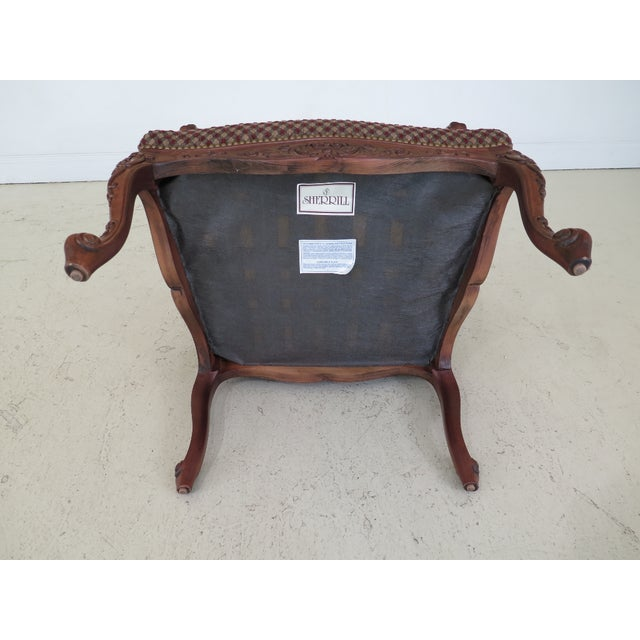 Sherrill French Louis XV Style Upholstered Arm Chair For Sale - Image 11 of 13