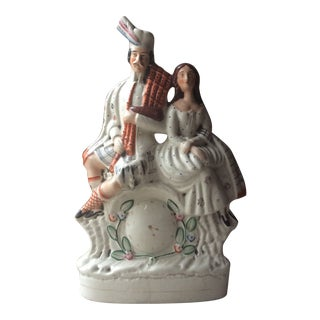 Antique Man and Women Staffordshire Figure For Sale