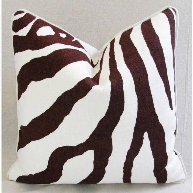 Custom Scalamandre Zebra Linen Pillows - Pair - Image 5 of 11