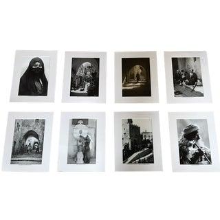 Vertical Old Photos From Jerusalem - Set of 6 For Sale