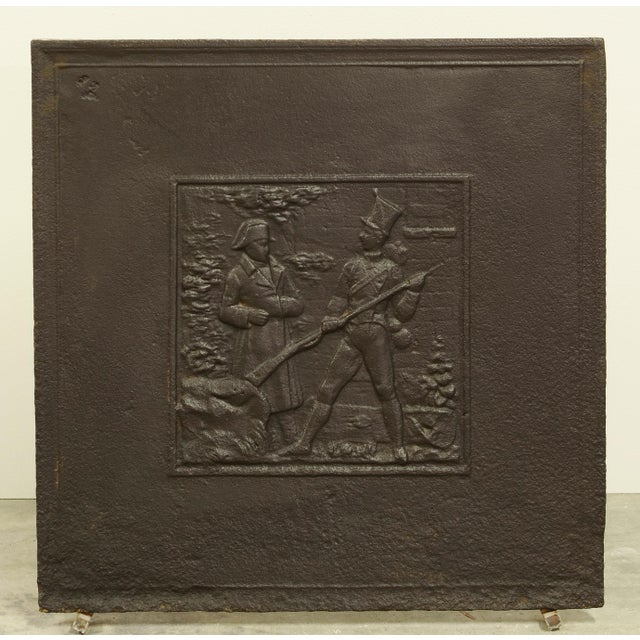 Antique Fireback Showing Napoleon on the Battlefield For Sale - Image 4 of 4
