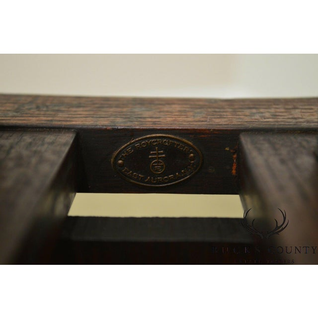 Roycroft Antique Mission Oak Little Journey's Book Stand For Sale - Image 9 of 13