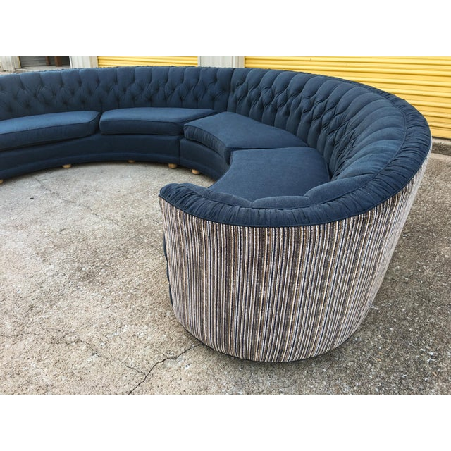 Mid-Century Semi-Circular Sectional - Image 8 of 11