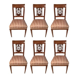 1800s German Classicist Chairs - Set of 6