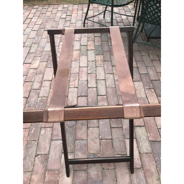 Brown English Butlers Tray on Folding Stand, Perfect for Bar Setup For Sale - Image 8 of 12