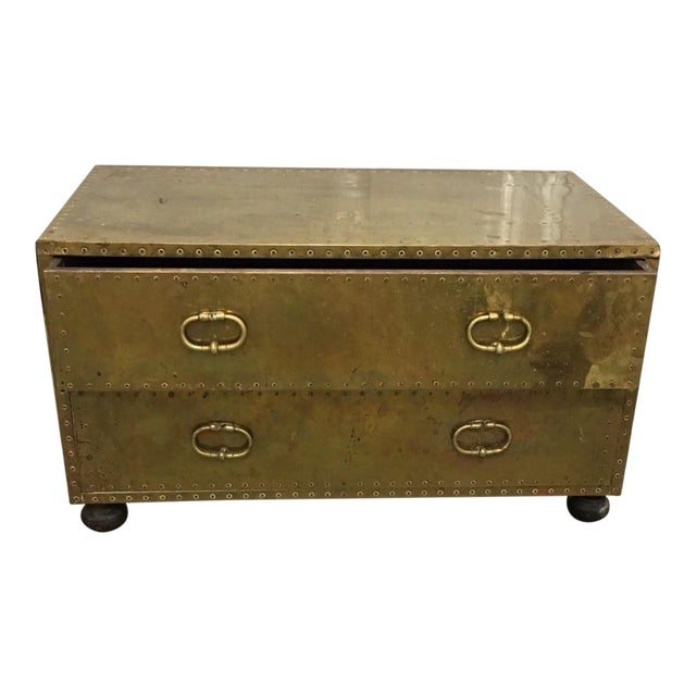 Sarried Gold 2-Drawer Trunk - Image 1 of 5