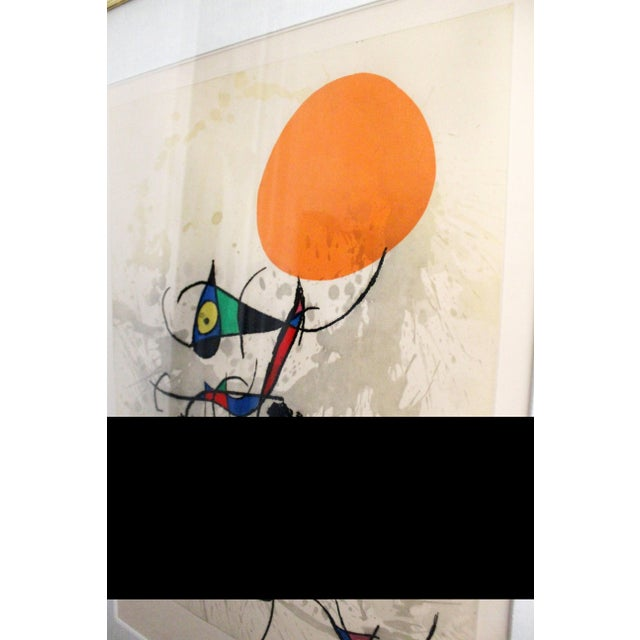 """Joan Miró 1970s Color Etching Aquatint """"Miro Terre Atteinte Et Soleil"""" by Joan Miro For Sale - Image 4 of 8"""